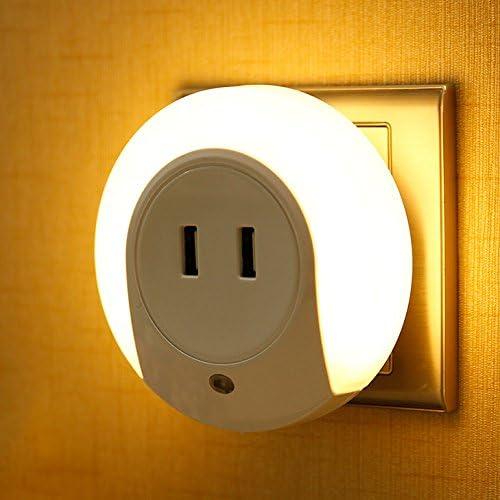 Hueliv Luz de Noche del LED y Fotosensible, con doble puerto USB cargador (5V 2A) para la sala, estudio, pasillo, escalera, inodoros: Amazon.es: Iluminación