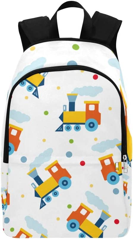 Bag College Women Cool Handsome Transportation Locomotive Durable Water Resistant Classic Kids Bookbag Camping Hiking Bag Sports Bag Accessories Sport Bags for Girls