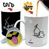 we can do it coffee mug - InGwest Home. Funny Coffee Mug with Friendly Dog and Tongue on bottom. Heat Sensitive Mug, Color Changing Mug.