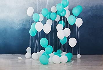 Leyiyi Birthday Party Backdrop 8x8ft Customized Photography Backdrop Banner Hanging Balloons Birthday Cake Cute Litte Boy Soft Green Background Photo Booth Props