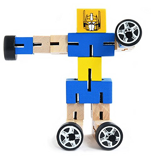 New Mannequin HaloVa Picket Robotic Toy, Autobot Mind Teasers Instructional Toys for Kids, Youngsters and Toddlers, Blue  Critiques