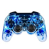 PDP Afterglow Wireless Controller for PS3, Blue