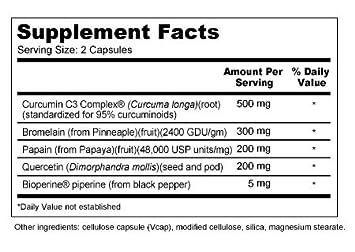 Repair Plus with Bromelain, Papain, Curcumin C3 Complex , BioPerine , and Quercetin for Repair and Inflammation