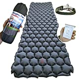 Ultimate Backpacking Inflatable Sleeping Pad - Ultra-Lightweight, Compact & Comfy Inflating Camping Mat