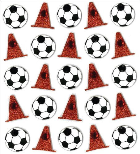 Jolee's Boutique Dimensional Stickers, Soccer Balls and Cones