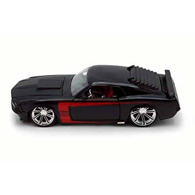 Jada 1970 Ford Mustang Boss 429, Black 90348 - 1/24 Scale Diecast Model Toy Car: Home & Kitchen