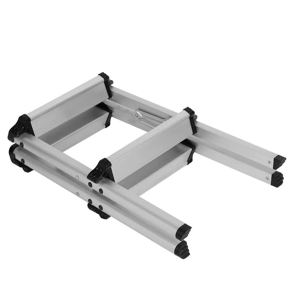 Zoternen Scaletta Pieghevole Sgabello Scala Alluminio 36.5x42.5x50cm con Superficie Antiscivolo 2 Gradini