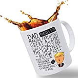 Funny Trump Coffee Mug for Dad - Large 14oz Capacity   Making Parenting Great Again   Christmas Stocking Stuffer on Birthday Gift for Dad   Father's Day Gift from