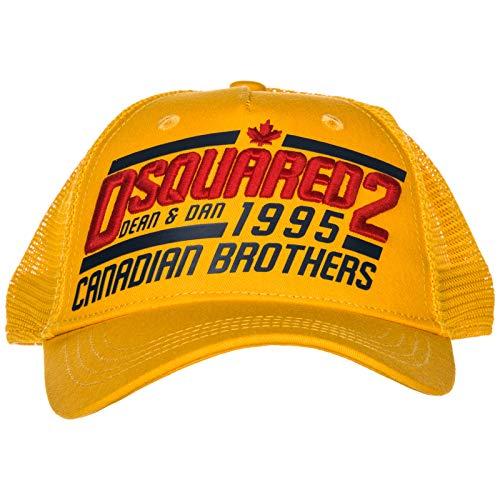 Jaune Chapeau Canadian Dsquared2 Réglable Brothers En Homme Coton 543RqjAL