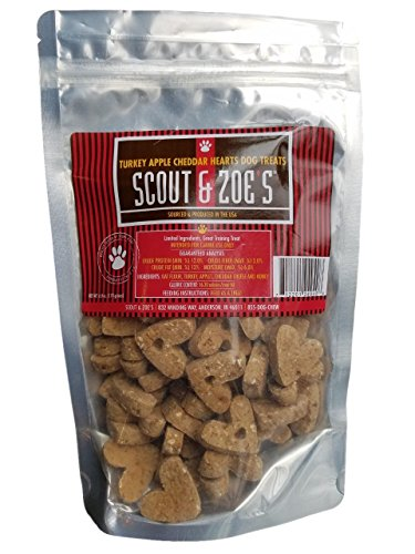(Turkey Apple Cheddar Hearts Dog Treats All Natural and Made in The USA)
