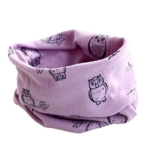 Cute Bestfriend Costumes (Bestpriceam Cute Owl Print Children Cotton Scarf Kids Winter Warm Neckerchief (Purple))