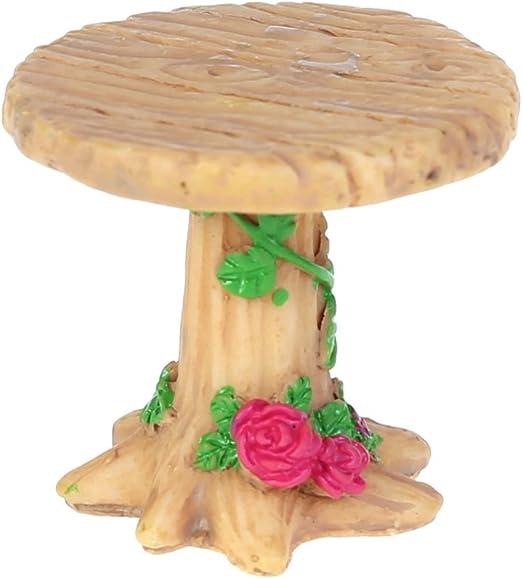 S-TROUBLE Miniatura de Resina Mesa y sillas Micro jardín Macetas Bonsai Decoración Artesanal: Amazon.es: Hogar