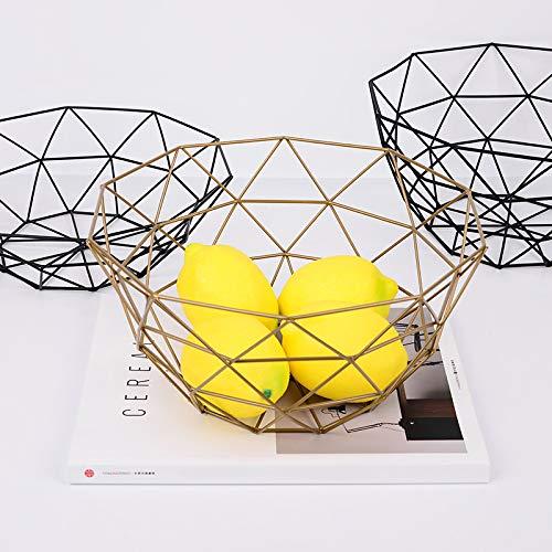 MoGist Fruit Basket Fruit Bowls Storage Stainless Steel Wire Snacks Storage Basket Home Kitchen Art Decoration Fruit Basket, 26 cm - Copper Plated (Golden) by MoGist (Image #4)