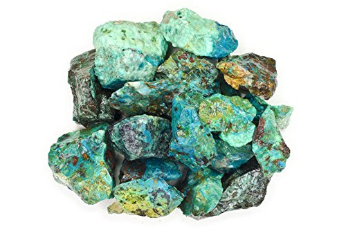 Hypnotic Gems Materials: 1 lb Premium Chrysocolla Stones from Peru - Rough Bulk Raw Natural Crystals for Cabbing, Tumbling, Lapidary, Polishing, Wire Wrapping, Wicca & Reiki Crystal Healing