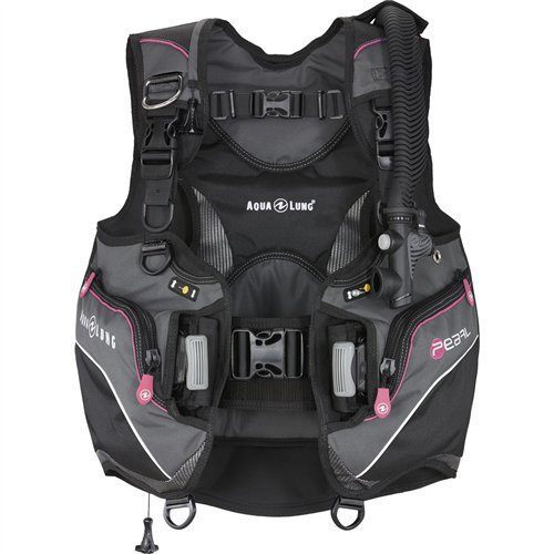(Aqua Lung Pearl Women's BCD (Small, Black/Charcoal/Pink))