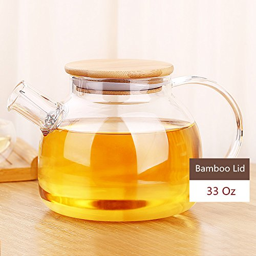 glass and bamboo tea kettle - 3