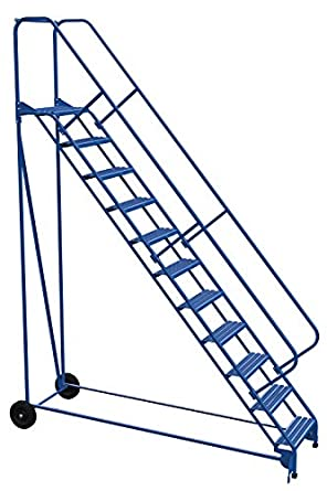Vestil LAD-RAF-11-24-G-EZ - Escalera enrollable plegable (50 grados, 11 peldaños), color azul: Amazon.es: Amazon.es