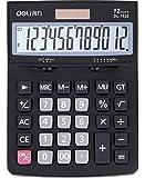 12桁太陽エネルギー卓上電卓 1.5Vボタンバッテリー関数電卓 大型 見やすい 打ちやすい 滑りゴム付き 実務電卓 2way電卓 家庭電器 事務用 経理用