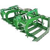 """Titan Attachments 72"""" John Deere Root Grapple Bucket Tractor Loader"""