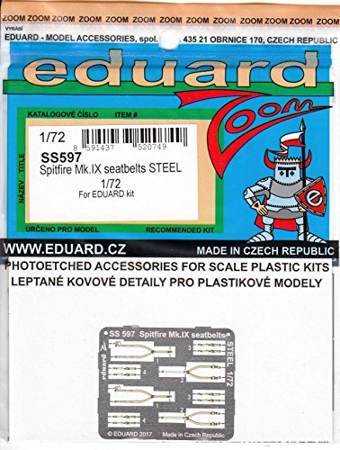 エデュアルド 1/72 ズームエッチングシリーズ スピットファイアMk.9シートベルト ステンレス製 エデュアルド用 プラモデル用パーツ EDUSS597