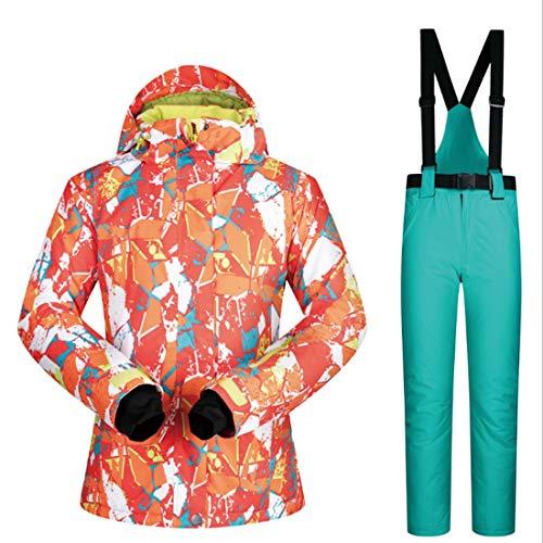 Capa Esquí La Para Invierno Ploekgda Conjunto Nieve Chaqueta 07 De Pantalones Debajo Mujer Y qwqazXS
