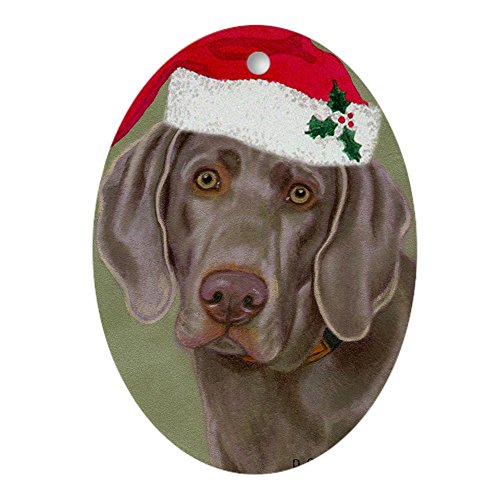 CafePress Weimaraner Oval Ornament Oval Holiday Christmas Ornament