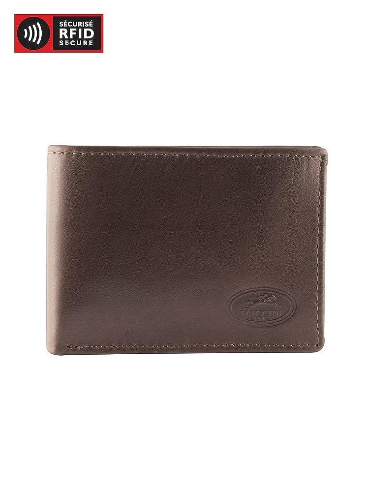 Leather Wallet Mancini RFID Secure Mens I.D Card Case
