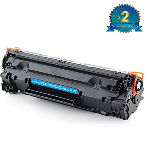 TOPMAY New Compatible Black Toner Cartridge CE285A CB435A CB436A for HP LaserJet P1102w and CRG-125 for Canon MF3010