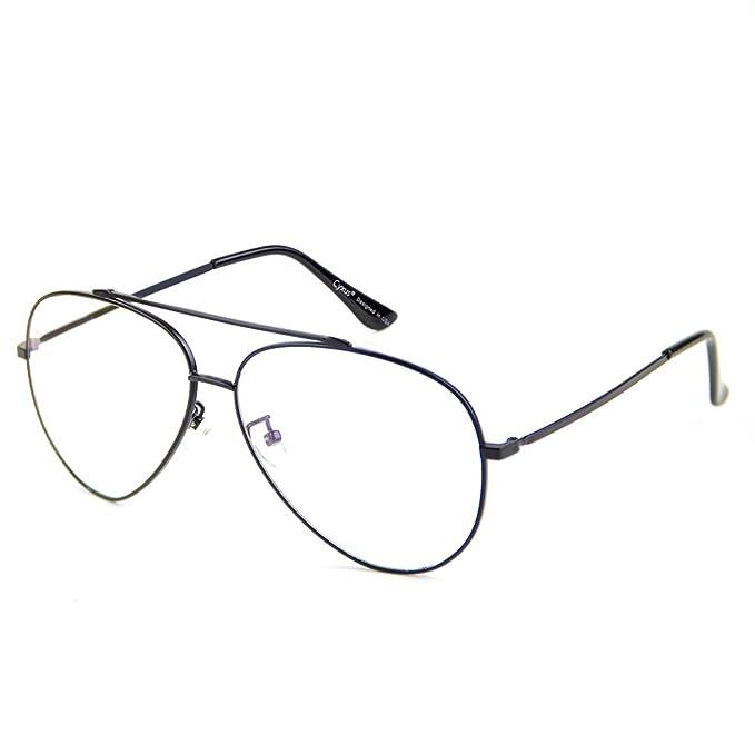 1 opinioni per Cyxus occhiali da aviatore filtro luce blu [trasparente lente] anti