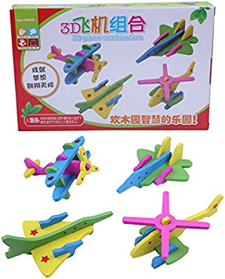Berry President TM 3d Puzzle Wooden Plane//Airplanes Model Kits for Kids Assemble Toy