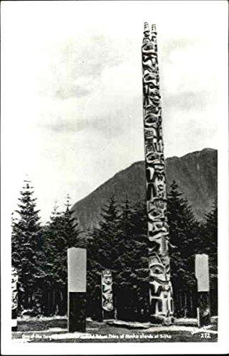 (One Of The Large Totem Poles Of Alaska Sitka Original Vintage Postcard)