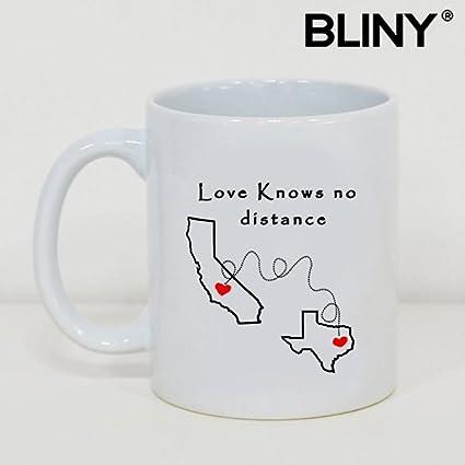 Amazoncom Funny Coffee Tea Mug Love Knows No Distance California