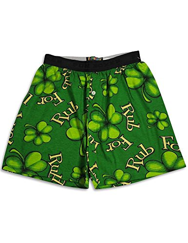 Fun Boxers - Mens Shamrock Boxer Shorts, Green 31345-Small (Shamrock Boxer Shorts)