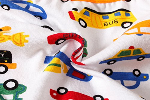 BOBO Kids Little Boys Car Briefs Underwear Toddler (Pack Of 6) Size 7-8 by BOBO Kids (Image #5)