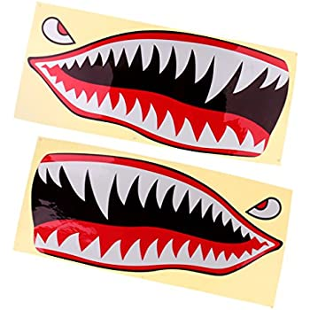 Amazon Com Flying Tigers Shark Teeth Decal Sticker 3