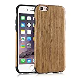iPhone 6s Case, Tendlin Natural Wood Flexible TPU Silicone Hybrid Soft Slim Cover Case for iPhone 6 and iPhone 6s (Santos Rose Wood)