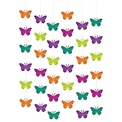 amscan Spring Multicolored Hanging Foil Strings, 6 Ct. | Party Decoration: Kitchen & Dining
