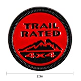 WildAuto Trail Rated Badge, Metal Emblem Badge for