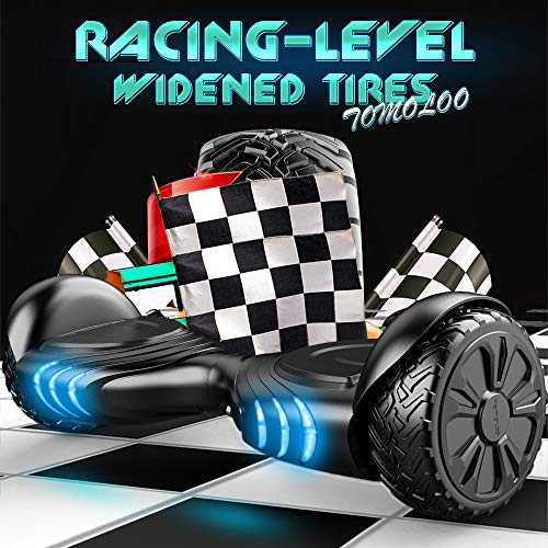 TOMOLOO Music-Rhythmed Hover Board for Kids and Adult Two-Wheel Self-Balancing Scooter- UL2272 Certificated with Music Speaker- Colorful RGB LED Light by TOMOLOO (Image #1)
