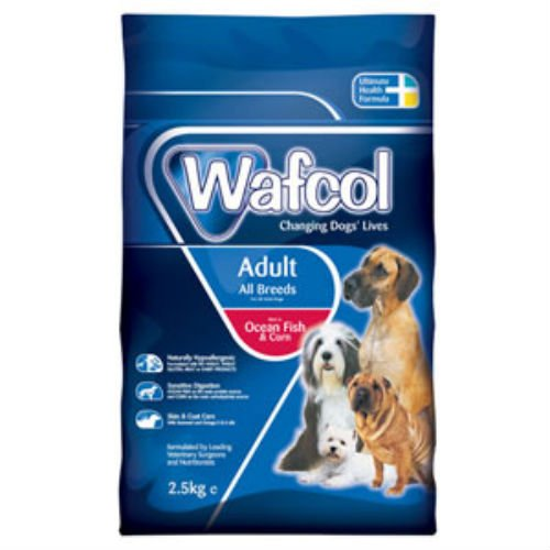 12kg Wafcol Ocean Fish and Corn Adult for All Breeds (12kg)