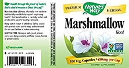 Nature\'s Way Marshmallow Root 480 mg, 100 Capsules