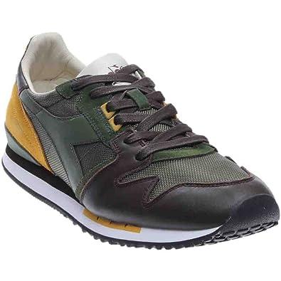 Diadora Heritage - Zapatillas de Piel para hombre Verde e senape 41 45 Size: 41 P0kB8hXq