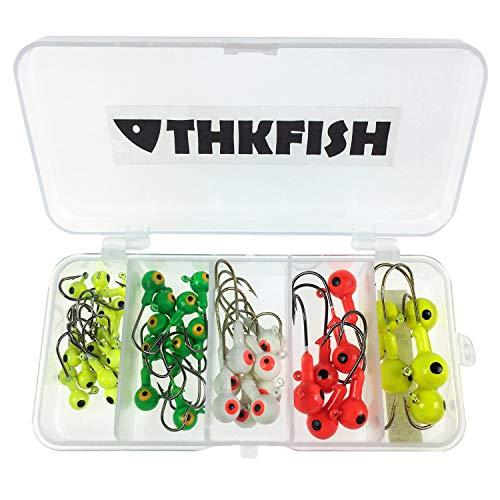 (44pcs Lot Fishing Jig 2g 4g 6g 8g 10g Head Hook Fishing Hook Set with Plastic Fishing Box )