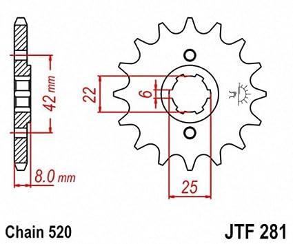 JT Sprockets JTF281.14 14T Steel Front Sprocket
