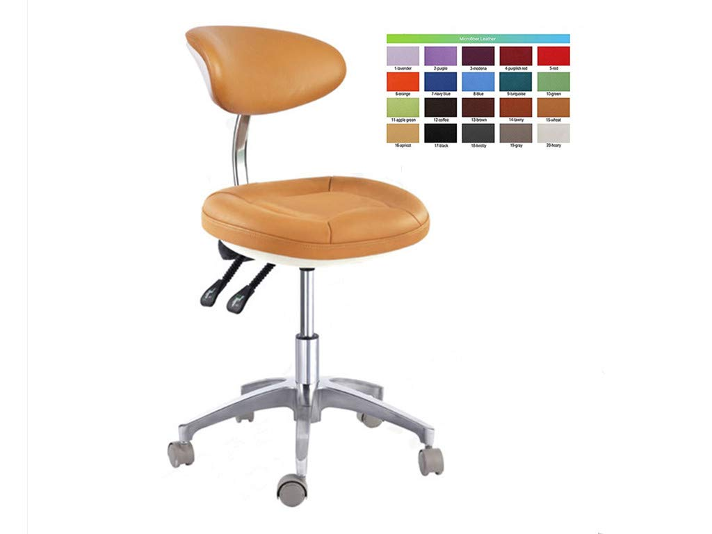 SoHome Portable Dentist Chair Doctor's Stool Concaved-Design Mobile Chair Height Adjustment Micro Fiber Leather by SoHome (Image #1)