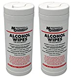 MG Chemicals 8241-T Multi Purpose Alcohol Wipe (70% IPA), 7.2'' Length x 6'' Width (Tub of 75) (2 PACK)