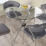 """Eurostyle Hadi Dining Table with 42"""" Glass Top"""