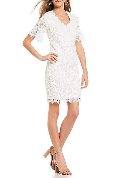 b548d7edc54 Trina Turk - Women s Darling Floral Lace Dress - White  Amazon.ca ...