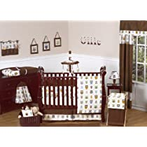Night Owl Forest Nature Baby Boy Bedding 9 pc Crib Set by Jojo Designs