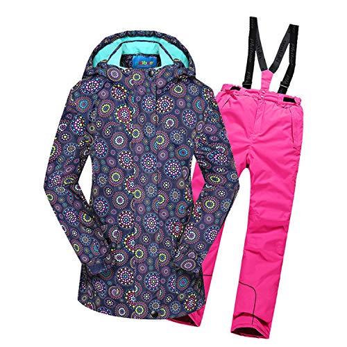 Keep Warm Boys/Girls Ski Suit Waterproof Pants+Jacket Set Winter Sports Thickened Clothes Children's Kids Ski Suits